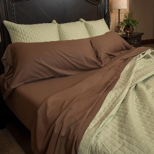 BEDVOYAGE Bamboo Bed Sheets - Best Bamboo Bed Sheets: Beauty Sleep-Resists Bacteria