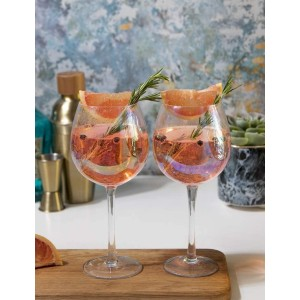 Barcraft  Balloon Gin Glasses - Best Glass for Gin and Tonic: Adds Shimmering Style to All Occasions