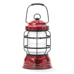 Barebones Rechargeable Forest Lantern in Red - Best Rechargeable Lanterns: Carrying Handle and Hanging Loop