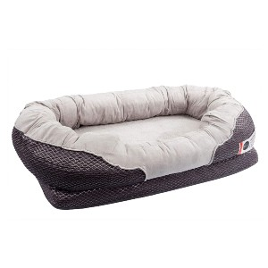 BarksBar Gray Orthopedic Dog Bed  - Best Dog Beds for Older Dogs: Great for Dog with Joint Pain