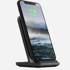 Nomad Base Station Stand - Best Phone Stand for Desk: Padded Leather Charging Surface