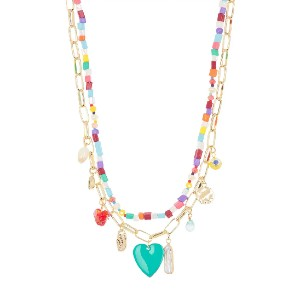 BP. Beaded Layered Charm Necklace - Best Jewelry for Off the Shoulder Dress: For more fun summer