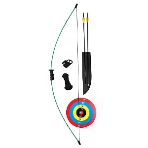 Bear Archery Crusader Youth Bow Package - Best Recurve Bow for Youth: Two Arrows Safetyglass Arrows