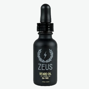 Zeus Beard Oil Tea Tree - Best Beard Oil for Sensitive Skin: Soothes Irritated Skin with Anti-Inflammatory Composition