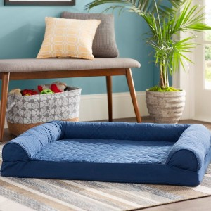 Beatrice Bernice Quilted Orthopedic Bolster - Best Dog Beds for Medium Dogs: Sofa Bed for Dog with Arthritic Pain