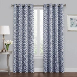 Bed Bath & Beyond Quinn Geo 63-Inch Grommet 100% Blackout Window Curtain Panel  - Best Curtain to Block Light: Curtain with Grommets Design