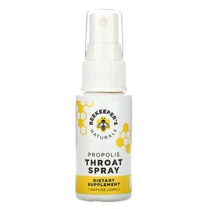 Beekeeper's Naturals Propolis Throat Spray - Best Mouth Spray for Dry Mouth: Scratchy Throat Rescue