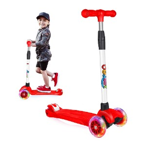 Beleev Scooters for Kids 3 Wheel  - Best 3 Wheel Scooter: Motion-activated LED wheels