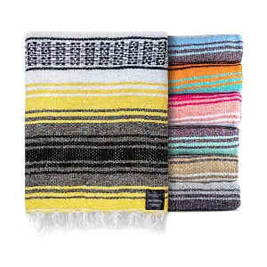 Benevolence LA Authentic Mexican Blanket  - Best Towels for Beach: Aesthetic Towel Pattern