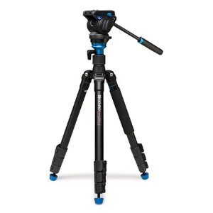 Benro Aero 4 Travel Angel Video Tripod Kit  - Best Tripods for Video Camera: Accurate leveling column