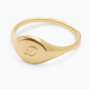 Gorjana Bespoke Signet Ring (Gold) - Best Personalized Jewelry for Moms: Customize to a more personal level