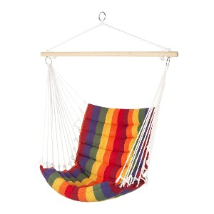 Best Choice Products Padded Hanging Cotton Hammock Chair  - Best Outdoor Hammocks Chair: Sturdy Hammock Chair