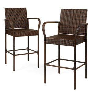 Best Choice Products Outdoor Wicker Bar Stools - Best Outdoor Bar Stool: Comfortable Bar Stool with Great Features