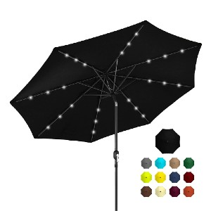 Best Choice Products 10ft Solar Powered LED Lighted Patio Umbrella  - Best Patio Umbrellas with Lights: Best for budget