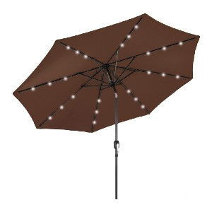Best Choice Products 10ft Solar Powered LED Lighted Patio Umbrella  - Best Price Patio Umbrella: Solar-powered LED lights