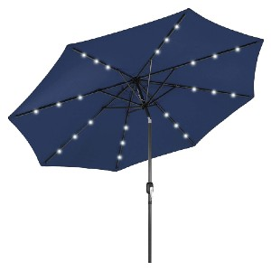 Best Choice Products 10ft LED Lighted Patio Umbrella - Best Patio Umbrellas for Wind: Solar-powered LED lights