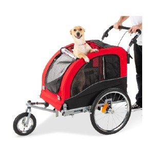 Best Choice Products 2-in-1 Pet Stroller and Trailer - Best Pet Dog Strollers: Easy Brake System
