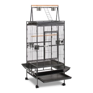 Best Choice Products New Large Play Top Bird Cage - Best Bird Cage for Lovebirds: Excellent snap-lock latch mechanism