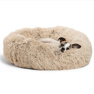 Best Friends by Sheri The Original Calming Shag Fur Donut Cuddler Cat & Dog Bed - Best Dog Beds for Puppies: Bed with Soft Faux Shag Fur