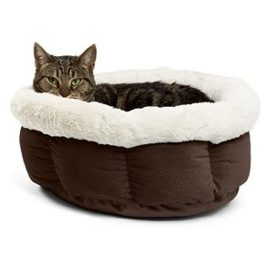 Best Friends by Sheri Cuddle Cup Cat Bed - Best Cat Beds for Older Cats: For lounging cats