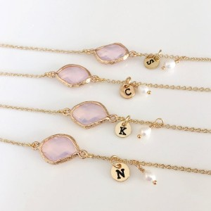 Birdshome Personalized BirthStones Initial Bracelet - Best Jewelry for Bridesmaids: Best for budget
