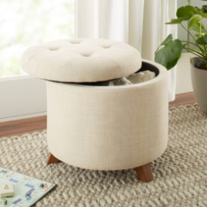 Better Homes & Gardens Better Homes & Gardens Colette Tufted Storage Ottoman - Best Coffee Table Ottoman: Classic Style Ottoman
