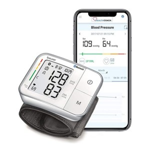 Beurer Bluetooth Smart, Wireless & Automatic Wrist Blood Pressure Monitor  - Best Blood Pressure Monitors to Buy: It's fully automatic