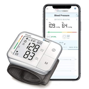 Beurer Bluetooth Smart, Wireless & Automatic Wrist Blood Pressure Monitor - Best Wrist Blood Pressure Monitor: It's fully automatic