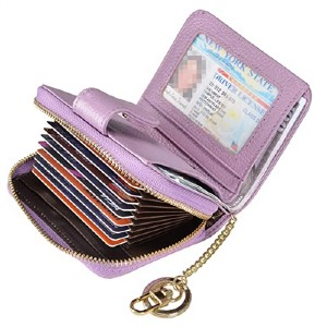 Beurlike Women's RFID Credit Card Holder - Best Wallet for Lots of Cards: The smallest of all