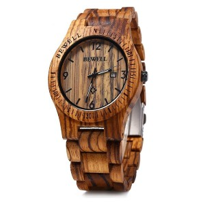 Bewell W086B Mens Wooden Watch  - Best Wooden Watches Under $100: The most affordable
