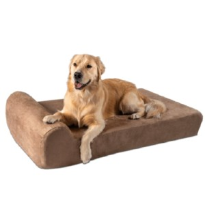Big Barker Headrest Orthopedic Pillow Dog Bed with Removable Cover - Best Dog Beds for Older Dogs: Arthritic Older Dogs Bed