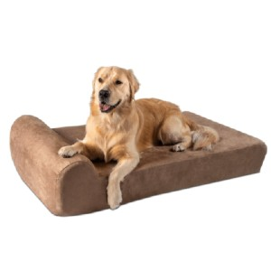 Big Barker Headrest Orthopedic Pillow Dog Bed with Removable Cover - Best Dog Beds for Large Dogs: Bed for Large Dog with Joint Issues