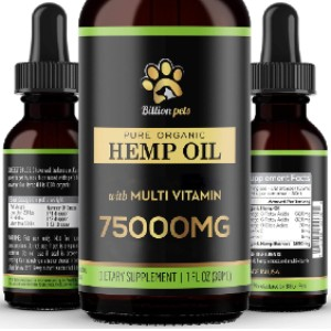 Billion Pets Hemp Oil for Dogs and Cats - Best CBD Oil for Dogs on Amazon: Omega-Rich Hemp Oil