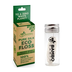 BAMBOEARTH Biodegradable Mint Dental Tooth Lace Floss - Best Natural Dental Floss: Completely compostable