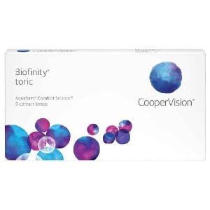 CooperVision Biofinity Toric  - Best Contact Lenses for Astigmatism: 6 Tinted Soft Contact Lenses in Buffered Saline