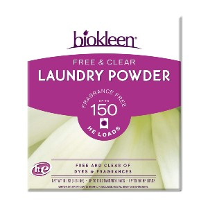 Biokleen Free & Clear Natural Laundry Detergent  - Best Laundry Detergents for Septic Systems: Stain-Fighting Detergent