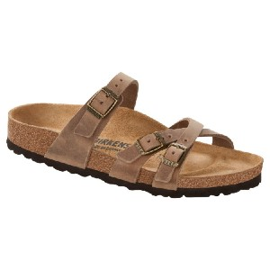Birkenstock Franca Tobacco Oiled Leather - Best Leather Sandals: Full Arch Support Sandal