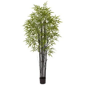 Nearly Natural Black Bamboo Tree UV Resistant - Best Artificial Plants for Outdoors: Suitable for Both Indoor and Outdoor Use