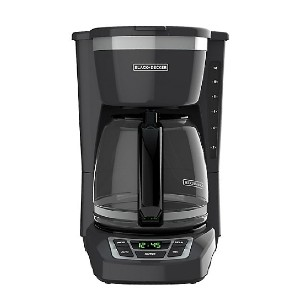 Black + Decker  12-Cup Programmable Coffee Maker - Best Coffee Machine for Home: Rubberized Buttons Give You Full Control of The Coffeemaker