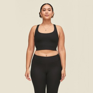 Girlfriend Black Paloma Bra - Best Activewear Plus Size: Sophisticated and guilty-free
