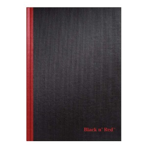 Black n' Red Hardcover Notebook - Best Notebooks for College: Durable Hardcover for Better Gripping