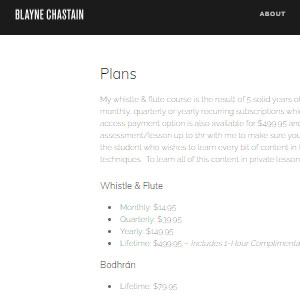 Blayne Chastain Online Irish Flute & Whistle Lessons - Best Online Tin Whistle Lessons: Personal Touch in Learning