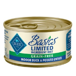 Blue Buffalo Basics Limited Ingredient Grain-Free Indoor Duck & Potato Entree Adult Canned Cat Food - Best Food for Cats with Allergies: Limited-Ingredient Diet Food