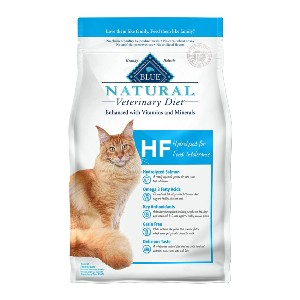 Blue Buffalo Natural Veterinary Diet HF Hydrolyzed for Food Intolerance  - Best Food for Cats with Allergies: Grain-Free Kibble Food