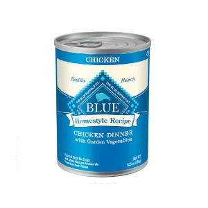 Blue Buffalo Homestyle Recipe Chicken Dinner with Garden Vegetables & Brown Rice Canned Dog Food - Best Dog Foods to Buy: Support Lean Muscle Mass