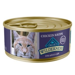 Blue Buffalo Wilderness Chicken Grain-Free Canned Cat Food - Best Food for Cat to Gain Weight: Special for Senior Cats