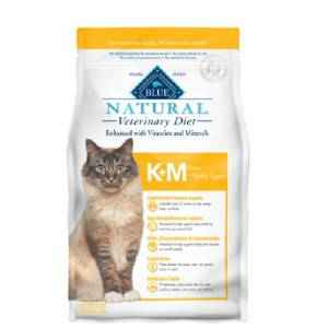 Blue Buffalo Natural Veterinary Diet K+M Kidney + Mobility Support Grain-Free Dry Cat Food - Best Food for Cats with Kidney Disease: Renal Diet for Cat