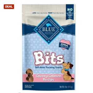 Blue Buffalo Blue Bits Savory Salmon Recipe Soft-Moist Training Dog Treats - Best Dog Treats for Puppies: Rich Protein and Nutrition