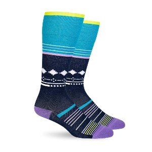 Dr. Segal's Blue Stars Cotton Energy Socks - Best Compression Socks for Travel: Any Type of Travel Lasting 4 or More Hours