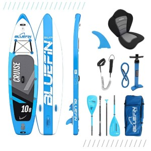 Bluefin Cruise SUP Package Stand Up Inflatable Paddle Board - Best Paddle Board for Ocean: Paddle Board with a GoPro Mount